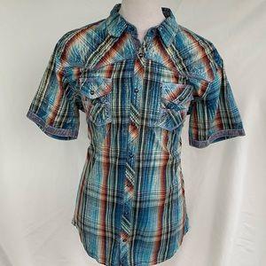 BKE Vintage 1967 Western Style S/S Shirt. Size XL
